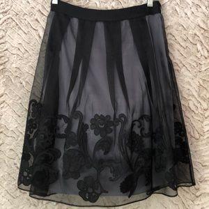 Tahari silk A-line skirt